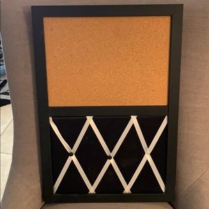 Message board with slots for pictures or notes